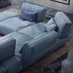 The Soho sectional sofa by Gamma Arredamenti represents the finest in Italian made seating, with a hardwood frame built to last. Ultra-thick hide is the signature of a Gamma sofa. Each piece is made by hand and has its own uniqueness. There is really no comparison to the quality, hand, and comfort.