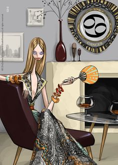 Marie Claire China - Horoscope 2011 on Illustration Served