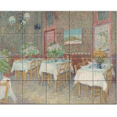 Interior of a Restaurant Vincent van Gogh - Summer of oil on canvas, Kroller Muller Collection Restaurant, Decorative Tile, Vincent Van Gogh, Art Reproductions, Masters, Oil On Canvas, Museum, Sculpture, Painting
