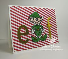 nice people STAMP!: Undefined Elf Card - Hand Carved Stamp by Allison Okamitsu - Stampin' Up!