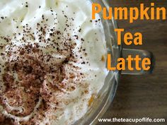 Learn how to make a Pumpkin Tea Latte (with real pumpkin!) Why stick with just pumpkin flavouring when you can have the real deal, real quick?