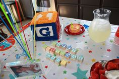 ABC Block Theme for 1st birthday Birthday Party Ideas   Photo 2 of 3   Catch My Party