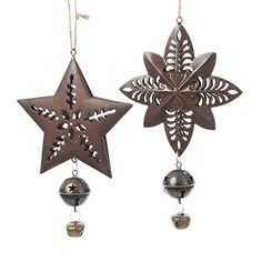Kurt Adler Metal Star and Starburst W/bell Ornaments ^^ Challenge the offers awaits you : Christmas Tree Toppers Christmas Tree Toppers, Christmas Bells, Christmas Decorations, Christmas Ornaments, Holiday Decor, Metal Stars, Joss And Main, Make It Yourself, Crafts