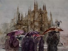 Watercolors by Minh Dam. New obsession.