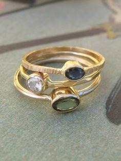 fce15f2da750 Green Sapphire Ring in 14k Gold