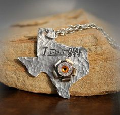 Texas Concealed Carry Pendant Necklace I Don't Dial by sundaycreek, $48.50      LOVE IT!!! @Rebecca Beach
