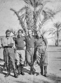 """Giuseppe Torcasio  2nd from right a World War II veteran, Giuseppe Torcasio was in the Italian heavy artillery regiment: A.S.42"""" type division, who saw action in Tobruk and El Alamein North Africa."""