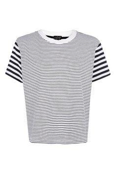 PETITE Breton T-Shirt Breton Shirt, Petite Tops, Topshop Tops, Striped Tee, Cotton Tee, Asos, T Shirt, Mens Tops, Navy Blue