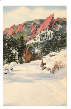 Flatirons Red Rocks Boulder Colorado Vintage Postcard unused by PicturesFromThePast