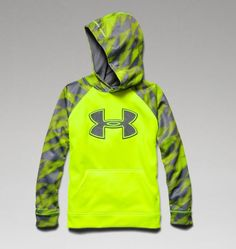 Boys' UA Storm Armour® Fleece Big Logo Blocked Hoodie | Under Armour US