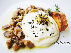 Blog de cuina de la dolorss: Patata, huevo de codorniz y ceps al aroma de trufa (Tuber melanosporum)
