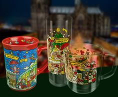 Es 'wimmelt' wieder – die Weihnachtstasse 2017 German Christmas, Dom, Pint Glass, Cool Art, Make It Yourself, Mugs, Cool Stuff, Tableware, Vegans