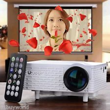 Uhappy Office and Home Use Portable Mini Video Projector for Android and iOS EU Plug - White Home Cinema Projector, Best Projector, Portable Projector, Home Theater Projectors, Cinema Room, Home Theater Setup, Home Theater Speakers, Home Theater Design, Home Theater Seating