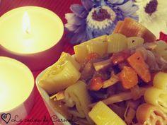 Cuori con verduras en salsa de soja - ESPECIAL SAN VALENTÍN. http://lacocinadecarmela.blogspot.com.es/2014/02/arroces-y-pastas-cuori-con-verduras-en.html