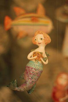Official website of Elya Yalonetski Mermaid Toys, Mermaid Man, Siren Mermaid, Clay Dolls, Art Dolls, Sculpture Art, Sculptures, Mermaid Artwork, Mermaid Ornament