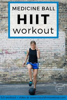 medicine ball hiit circuit workout is part of Medicine ball ab workout - Combine cardio, strength and stability in this medicine ball HIIT circuit; a total body workout that you can do in 30 minutes or less 30 Minute Workout Video, Workout Videos, Hiit Workout At Home, At Home Workouts, Workout Fitness, Cardio Workouts, Body Workouts, Swimming Workouts, Boxing Workout