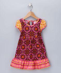 Brown & Pink Melanie Dress - Infant, Toddler & Girls
