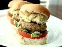 Chicken Burgers with Curried Cabbage Slaw-{Indian Inspired}#SundaySupper