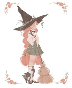 🌿 Witchy postcard 🌿 You can watch how I drew her on my patreon! Link in my bio 😊 Just really obsessed with this palette right now 🍑 Art And Illustration, Illustrations, Anime Kunst, Anime Art, Art Pastel, Witch Drawing, Dibujos Cute, Arte Disney, Witch Art