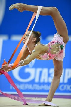 Aleksandra Soldatova, Russia, ribbon 17.466 Grand Prix Moscow 2015