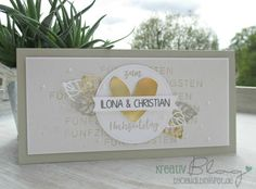 Kreativ Blog by Claudi: Goldene Hochzeit Paper Cards, Diy Paper, Diy Cards, Craft Cards, Paper Crafting, Cricut Wedding, Wedding Cards, Tipi Wedding, Stamping Up