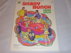 Vintage Uncut Brady Bunch Paper Doll from the TV Show, 1973, 6 Pgs. of Clothes