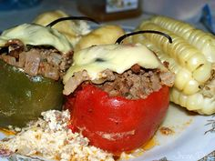 Rocoto relleno: Arequipa dish made from stuffed rocoto chilis. Rocotos are one of the very hot (spicy) chilis of Peru. In this dish they are stuffed with spiced beef or pork, onions, olives, egg white and then cooked in the oven with potatoes covered with cheese and milk.