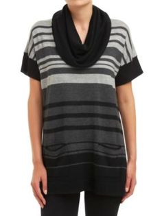 Sussan - Clothing - Knitwear - Pullovers - Stripe cowl pullover
