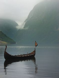 Viking boat,in beautiful Norway... The land of the old gods.