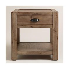 Cost Plus World Market Wood Quade End Table ($160) ❤ liked on Polyvore featuring home, furniture, tables, accent tables, rustic wood shelves, storage shelves, wood side table, rustic wood shelf and rustic wooden shelf