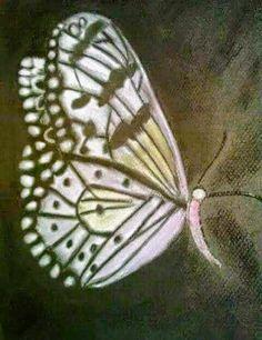 Mariposa Técnica Pastel, A4