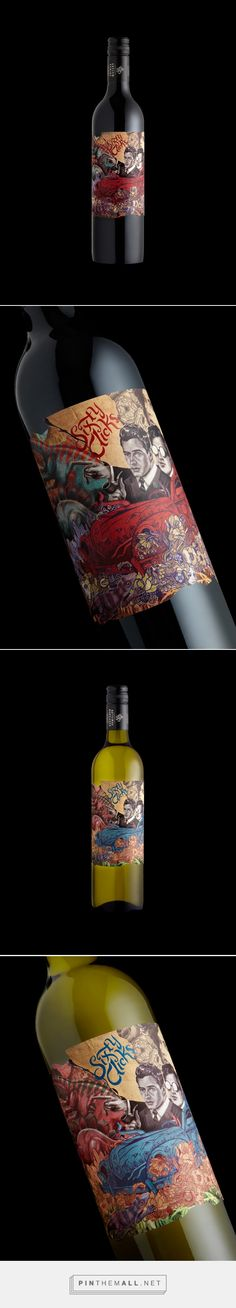 Sixty Clicks on Behance by Stranger & Stranger curated by Packaging Diva PD. Graphic design packaging branding. Fear and loathing on the crazy road to the vineyard.