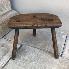 For Sale - Victorian Country Elm Three Legged Stool. Great colour with traces of the original green paint. Just on the Website. #victorian… Three Legged Stool, How To Antique Wood, Victorian, Colour, Website, The Originals, Country, Antiques, Green