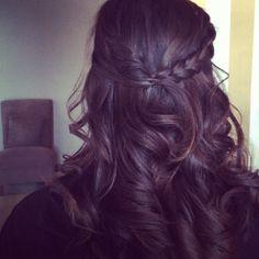 Braided half up do. Hair. Morgan Ashley salon