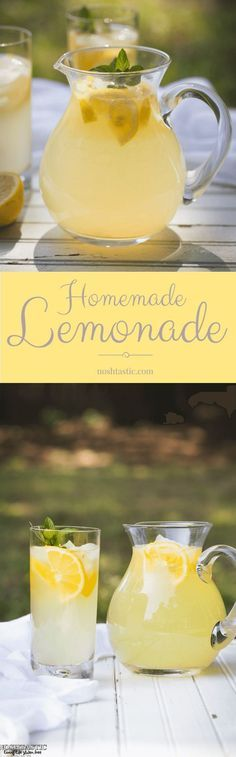 This fresh squeezed Lemonade recipe will blow your mind, you'll never go back to store bought! | from http://noshtastic.com |