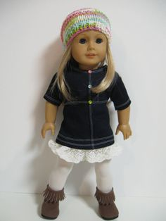American Girl Doll Clothes Denim and Lace by 123MULBERRYSTREET, $29.00