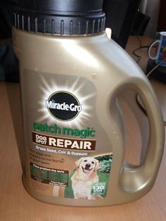 Fixes problem dog spots caused by: Dog urine, High traffic, Digging.  The high salt content in dog urine can burn the grass causing unsightly bare patches and makes it very difficult for grass seed to grow and the lawn to recover. That's why we've developed Miracle-Gro Patch Magic Dog Spot Repair.