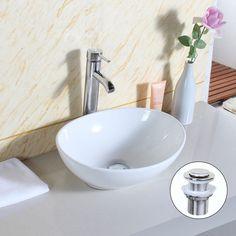Bathroom Sinks Ebay Uk 35 39cm - 59cm uenjoy oval counter top basin sink bowl ceramic