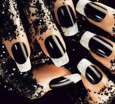 #black&whitemani w/sparkly bling ...so very cool!