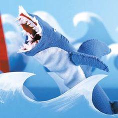 Shark Attack Sock Puppet