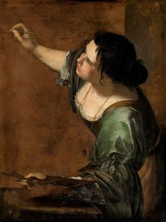 Armed with a brush … Self-portrait as the Allegory of Painting, by Gentileschi.