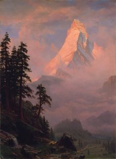 Sunrise on the Matterhorn, 1875, Albert Bierstadt