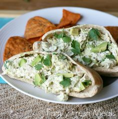 ... Recipes That Aren't Sandwiches - Healthy Avocado Chicken Salad from