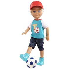 """Barbie Chelsea and Friends Doll - Darrin with Soccer Ball - Mattel - Toys """"R"""" Us"""