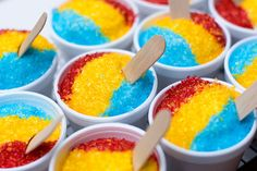 """""""sno cone"""" cupcakes - (Yes, I am obsessed with food that looks like other food)."""