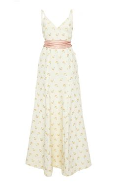 This Markarian Charles floral faille gown features a low V-back with bow detail. Date Outfits, Dress Outfits, Summer Outfits, Dress Up, Summer Dresses, Elegant Dresses, Cute Dresses, Beautiful Dresses, Midi Dresses