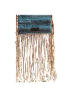 Sam Ubhi - Full Fringed Clutch Bag – Blue Snake without Handle Blue Bags, Clutch Bag, Snake, Handle, Jewelry, Jewlery, Jewerly, Clutch Bags, Schmuck