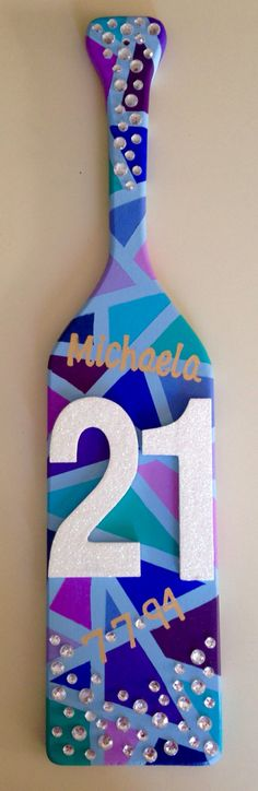 21st birthday paddle for my AOII pledge sister