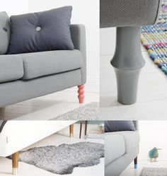I love this!! Customize your Ikea sofa or bed with these funky legs from Prettypegs.se