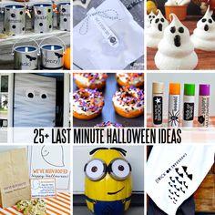 25+ Last Minute Halloween Ideas - printables, treats, DIY and crafts, costumes and more www.thirtyhandmadedays.com